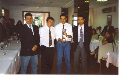 Selección Asturiana.Campeonato de España, San Feliu de Guixols(Gerona),1996.Arcadio,Miguel,Suso y Medina.