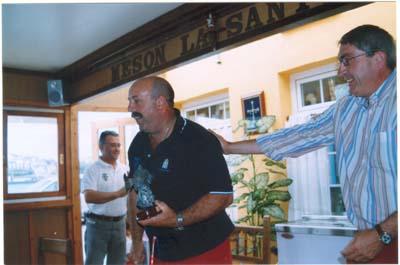 """J. Angel,del Náutico de Ribadeo. XII troféo de pesca """" Villa de Castropol """".2005"""