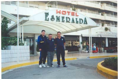 Con la Selección Asturiana en el Campeonato de España de 2001en Calpe. Roman Muñiz, Miguel y Suso.