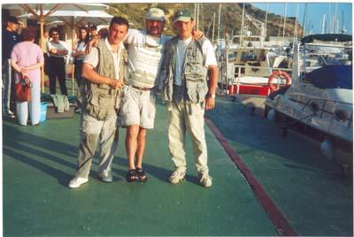 Campeonato de España ,2001, Calpe. Miguel, Juanico y Suso.