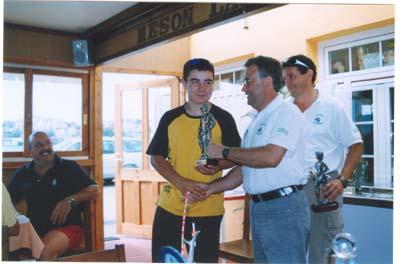 Rubén, del Oviedo Pesca Club, cuarto clasificado en el troféo \