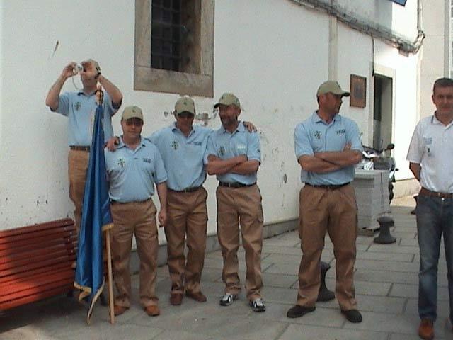 Equipo de la Sección de Pesca del Club de mar de Castropol-Congelados Egea, 6º puesto. De izda. a decha, Seijo,Jose Mari (delegado),Suso ,Cotarelo y Moncho.