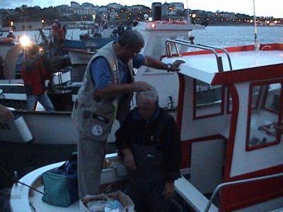 Los canarios del club maritimo de Tenerife,Fernando de Armas y Gabriel Borges, dos grandisimos pescadores y mejores amigos.