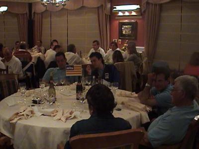 Representantes de Mallorca en la cena de clausura.