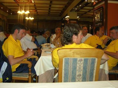 Un momento de la cena de clausura del campeonato.