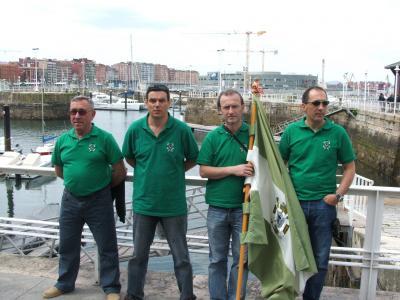Equipo de la Sección de Pesca del Club de Mar de Castropol, que participo en el Campeonato.