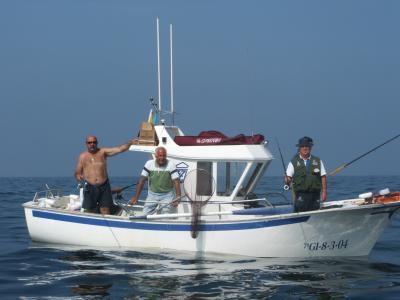 El equipo de Torrevieja (Alicante),con el que pesco Jose Angel del Náutico de Ribadeo.