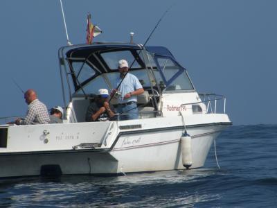 Equipo  B de la Sección de Pesca Del Club de Mar de Castropol, Roberto,Kike, Celso y Cotarelo, terceros clasificados.